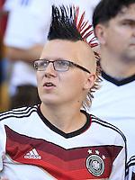 A Germany fan with a mohawk