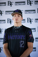 Zachary Williams (12) of College Station High School in College Station, Texas during the Baseball Factory All-America Pre-Season Tournament, powered by Under Armour, on January 12, 2018 at Sloan Park Complex in Mesa, Arizona.  (Zachary Lucy/Four Seam Images)