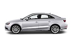Driver side profile view of a 2015 Audi A3 2.0 T DSG 4 Door Sedan