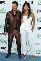 SANTA MONICA, CA, USA - MARCH 01: Matthew McConaughey, Camila Alves at the 2014 Film Independent Spirit Awards held at Santa Monica Beach on March 1, 2014 in Santa Monica, California, United States. (Photo by Xavier Collin/Celebrity Monitor)