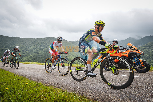 Jan Bakelants (BEL) Intermarché-Wanty-Gobert Matériaux and Jeremy Cabot (FRA) TotalEnergies in the breakaway during Stage 16 of the 2021 Tour de France, running 169km from Pas de la Case to Saint-Gaudens, France. 13th July 2021.  <br /> Picture: A.S.O./Charly Lopez   Cyclefile<br /> <br /> All photos usage must carry mandatory copyright credit (© Cyclefile   A.S.O./Charly Lopez)