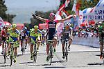 Sacha Modolo (ITA) Lampre-Merida wins Stage 5 of the 2015 Presidential Tour of Turkey running 159.9km from Mugla to Pamukkale. 30th April 2015.<br /> Photo: Tour of Turkey/Mario Stiehl/www.newsfile.ie