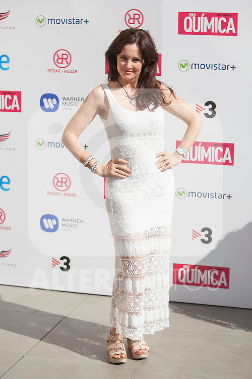 Silvia Marso poses during the `Solo quimica´ film presentation in Madrid, Spain. July 14, 2015. (ALTERPHOTOS/Victor Blanco)