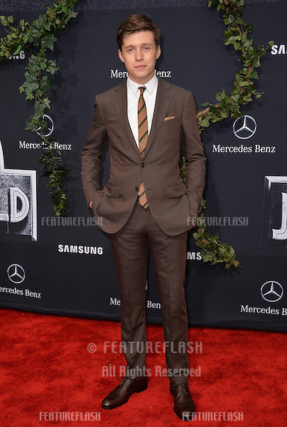 """Actor Nick Robinson at the world premiere of his movie """"Jurassic World"""" at the Dolby Theatre, Hollywood.<br /> June 10, 2015  Los Angeles, CA<br /> Picture: Paul Smith / Featureflash"""