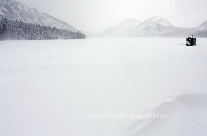 Ice Fishing Shack on Jordan Pond  #A28