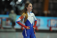 SPEEDSKATING: ERFURT: 19-01-2018, ISU World Cup, 1000m Ladies A Division, Elizaveta Kazelina (RUS), photo: Martin de Jong