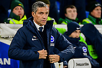 Chris Hughton Manager of Brighton & Hove Albion ,during the Premier League match between Brighton and Hove Albion and Crystal Palace at the American Express Community Stadium, Brighton and Hove, England on 4 December 2018. Photo by Edward Thomas / PRiME Media Images.