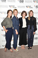 """Paula Beer, Sandra Huller, Liv Lisa Fries and Julia Jentsch <br /> at the London Film Festival 2016 premiere of """"Queen of Katwe"""" at the Odeon Leicester Square, London.<br /> <br /> <br /> ©Ash Knotek  D3168  09/10/2016"""