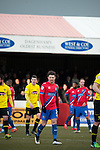 Dagenham and Redbridge 1 Burton Albion 3, 21/02/2015. Victoria Road, League Two. Jamie Cureton in action. Burton Albion moved to the top of League Two following a hard-fought win over Dagenham & Redbridge played in-front of 1,718 supporters. Photo by Simon Gill.