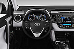 Car pictures of steering wheel view of a 2018 Toyota RAV4 XLE 5 Door SUV Steering Wheel