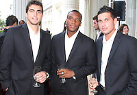 Dejan Jakovic, Rodney Wallace and Santino Quaranta of DC United at a reception for AC Milan at DAR Constitution Hall in Washington DC on May 24 2010.