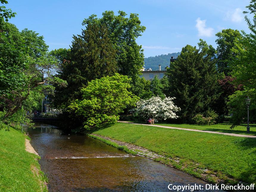 Oos , Baden-Baden, Baden-Württemberg, Deutschland, Europa<br /> River Oos, Baden-Baden, Baden-Wuerttemberg, Germany, Europe