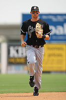 July 17 2008: Mike McBryde of the San Jose Giants during game against the Lancaster JetHawks at Clear Channel Stadium in Lancaster,CA.  Photo by Larry Goren/Four Seam Images