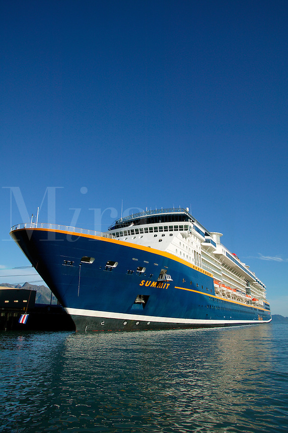Celebrity Cruises cruiseship Summit, Seward, Alaska