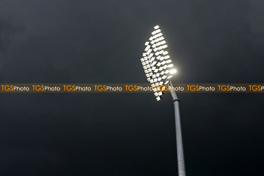 A floodlight in use as the skies darken during Essex CCC vs Nottinghamshire CCC, LV Insurance County Championship Group 1 Cricket at The Cloudfm County Ground on 6th June 2021