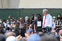 NEW YORK, NEW YORK - JUNE 04: New York City First Lady, Chirlane McCray speaks as People Gather in Cadman Plaza For a memorial service demonstrating the death of George Floyd on June 4, 2020 in Brooklyn, New York. Floyd's death, the most recent in a series of deaths of black Americans at the hands of the police, has set off days and nights of protests across the country. (Photo by Pablo Monsalve / VIEWpress via Getty Images)