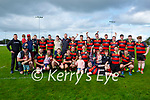 The Killarney team celebrate after defeating Killorglin in the McElligott cup final in Aghadoe on Sunday