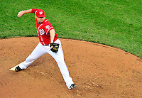 24 April 2010: Washington Nationals' pitcher Matt Capps on the mound against the Los Angeles Dodgers at Nationals Park in Washington, DC. The Dodgers edged out the Nationals 4-3 in a thirteen inning game. Mandatory Credit: Ed Wolfstein Photo