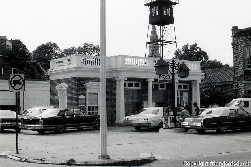 Charleston;  Charleston Gas Station.  Photo '78.
