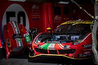 #52 AF CORSE - Ferrari 488 GTE EVO: Daniel Serra - Miguel Molina - Davide Rigon, 24 Hours of Le Mans , Saturday Set Up, Circuit des 24 Heures, Le Mans, Pays da Loire, France