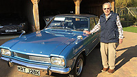 BNPS.co.uk (01202) 558833. <br /> Pic: AndrewLast/BNPS<br /> <br /> Pictured: Fred with the Capri. <br /> <br /> Pensioner Fred Last has bought back his beloved Ford Capri more than 20 years after he sold it.<br /> <br /> Fred, 92, bought the Mark One Capri from new in 1971 and it was his pride and joy for almost three decades.<br /> <br /> He regularly used the vehicle for family holidays and day trips before selling it in 1999, once his children had grown up.