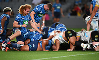3rd April 2021; Eden Park, Auckland, New Zealand;  Another collapsed scrum.<br /> Blues v Hurricanes Super Rugby Aotearoa. Eden Park, Auckland. New Zealand.