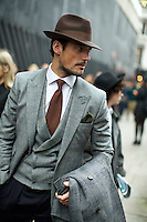 London Collections: Men. Streetstyle. January 2013.