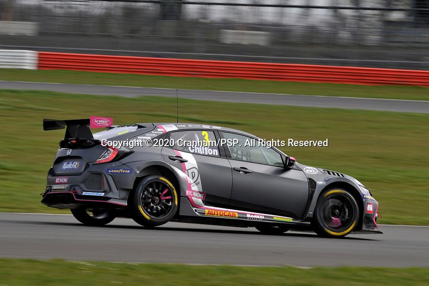 2020 British Touring Car Championship Media day. #3 Tom Chilton. BTC Racing. Honda Civic Type R.