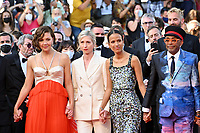 CANNES, FRANCE. July 17, 2021: Maggie Gyllenhaal, Jessica Hausner, Mati Diop & Spike Lee at the Closing Gala & Awards Ceremony, and From Africa With Love Premiere at the 74th Festival de Cannes.<br /> Picture: Paul Smith / Featureflash