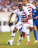 PHILADELPHIA, PA - JUNE 30: Gyasi Zardes #9 during a game between Curaçao and USMNT at Lincoln Financial Field on June 30, 2019 in Philadelphia, Pennsylvania.