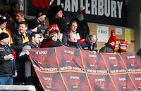 Photo: Richard Lane/Richard Lane Photography.  London Wasps v Newport Gwent Dragons. Heineken Cup. 19/12/2010. Newport Gwent Dragons fans.