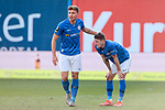 20.02.2021, xtgx, Fussball 3. Liga, FC Hansa Rostock - SV Waldhof Mannheim, v.l. Oliver Daedlow (Hansa Rostock, 25), Nico Neidhart (Hansa Rostock, 7) Jubel, Torjubel, jubelt ueber das Tor, celebrate the goal, celebration <br /> <br /> (DFL/DFB REGULATIONS PROHIBIT ANY USE OF PHOTOGRAPHS as IMAGE SEQUENCES and/or QUASI-VIDEO)<br /> <br /> Foto © PIX-Sportfotos *** Foto ist honorarpflichtig! *** Auf Anfrage in hoeherer Qualitaet/Aufloesung. Belegexemplar erbeten. Veroeffentlichung ausschliesslich fuer journalistisch-publizistische Zwecke. For editorial use only.