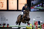 Robert Smith of Great Britain riding Ilton competes in the Longines Grand Prix during the Longines Masters of Hong Kong at AsiaWorld-Expo on 11 February 2018, in Hong Kong, Hong Kong. Photo by Ian Walton / Power Sport Images