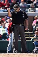 March 5, 2010:  Umpire Jerry Layne during a Spring Training game at Joker Marchant Stadium in Lakeland, FL.  Photo By Mike Janes/Four Seam Images