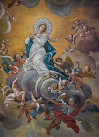 Cieling fresco of the Assumption, Santa Maria Maddalena, Rome, Italy