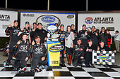 2017 NASCAR Camping World Truck Series - Active Pest Control 200<br /> Atlanta Motor Speedway, Hampton, GA USA<br /> Saturday 4 March 2017<br /> Christopher Bell and team celebrate in victory lane<br /> World Copyright: Nigel Kinrade/LAT Images