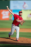 Johnson City Cardinals starting pitcher Josh Wirsu (28) in action against the Elizabethton Twins at Joe O'Brien Field on July 11, 2015 in Elizabethton, Tennessee.  The Twins defeated the Cardinals 5-1. (Brian Westerholt/Four Seam Images)