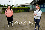 Ready for their Irish Paper 1 Leaving Cert exam in Mercy Mounthawk on Monday, l to r:  Ava O'Gorman (Tralee) and Isabelle Curran.