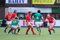 Mel Clay of Wales in action during the Women's Six Nations match between Wales and Ireland at Cardiff Arms Park, Cardiff, Wales, UK. Sunday 17 March 2019