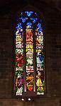 Glass lead light in Le Seu Cathedral in Palma De Mallorca, Spain