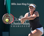 April 7,2016:   Kristina Kucova (SVK) loses to Angelique Kerber (GER) 6-2, 6-3, at the Volvo Car Open being played at Family Circle Tennis Center in Charleston, South Carolina.  ©Leslie Billman/Tennisclix/Cal Sport Media