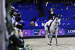 OMAHA, NEBRASKA - APR 2: Martin Fuchs waves to the crowd after finishing fourth in the Longines FEI World Cup Jumping Final at the CenturyLink Center on April 2, 2017 in Omaha, Nebraska. (Photo by Taylor Pence/Eclipse Sportswire/Getty Images)