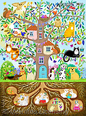 Kate, CUTE ANIMALS, LUSTIGE TIERE, ANIMALITOS DIVERTIDOS, paintings+++++,GBKM770,#ac#, EVERYDAY