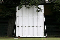 The sight screen during Barking CC (batting) vs Hornchurch Athletic CC, Hamro Foundation Essex League Cricket at Mayesbrook Park on 31st July 2021
