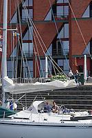 Sportboote am Westhafen,  Malmö, Provinz Skåne (Schonen), Schweden, Europa<br /> pleasure crafts  at Westport in Malmö, Sweden