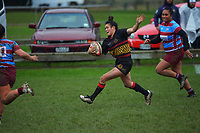 Action from the Wellington Izzy Ford Cup division two women's club rugby final between Paremata-Plimmerton and Avalon at Ngatitoa Domain in Wellington, New Zealand on Saturday, 26 June 2021. Photo: Dave Lintott / lintottphoto.co.nz