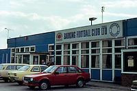 The clubhouse at Barking Football Club, Mayesbrook Park, circa 1990 - MANDATORY CREDIT: Gavin Ellis/TGSPHOTO - Self billing applies where appropriate - Tel: 0845 094 6026