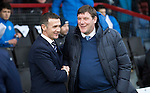 Ross County v St Johnstone…18.02.17     SPFL    Global Energy Stadium, Dingwall<br />Jim McIntyre and Tommy Wright before kick off<br />Picture by Graeme Hart.<br />Copyright Perthshire Picture Agency<br />Tel: 01738 623350  Mobile: 07990 594431