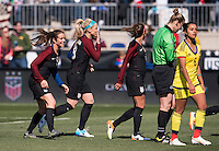 Chester, PA - April 10, 2016: The USWNT defeated Colombia 3-0 during their friendly at Talen Energy Stadium.