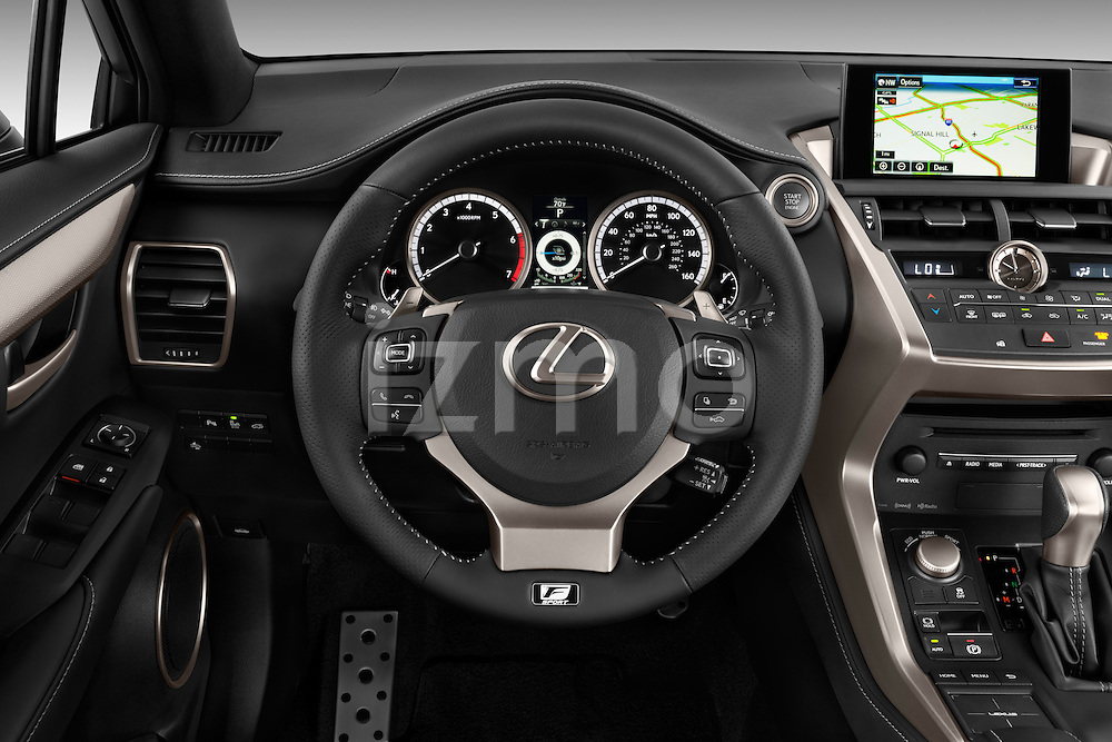 Car pictures of steering wheel view of a 2015 Lexus NX NX 200t F SPORT 5 Door SUV Steering Wheel